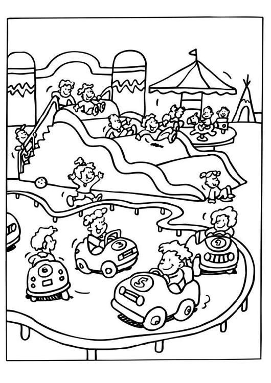 530x750 Coloring Page Amusement Park