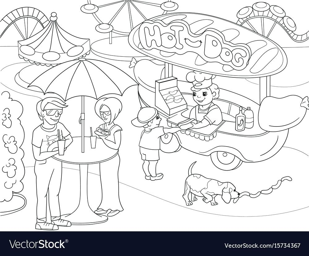 1000x830 Fall Coloring Pages For Childrens Church Amusement Park Children