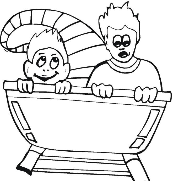 660x692 Fine Amusement Park Coloring Pages Be Inexpensive Article