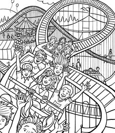 236x274 Amusement Park Coloring Pages Coloring And Coloring Vbs