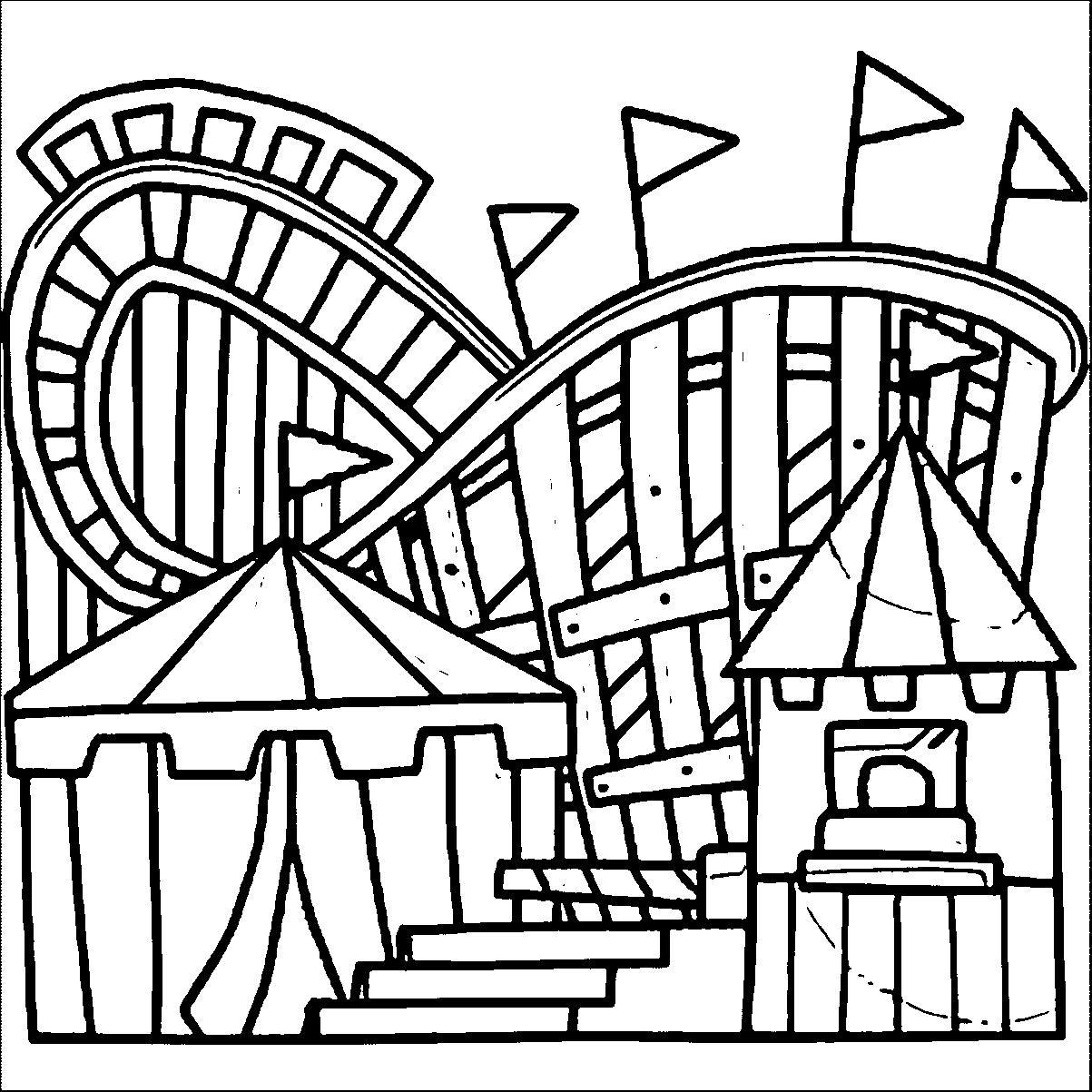 1203x1203 Amusement Park Coloring Pages To Print Coloring Pages