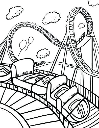 392x507 Amusement Park Coloring Pages Water Swan Boat Colouring Sheets