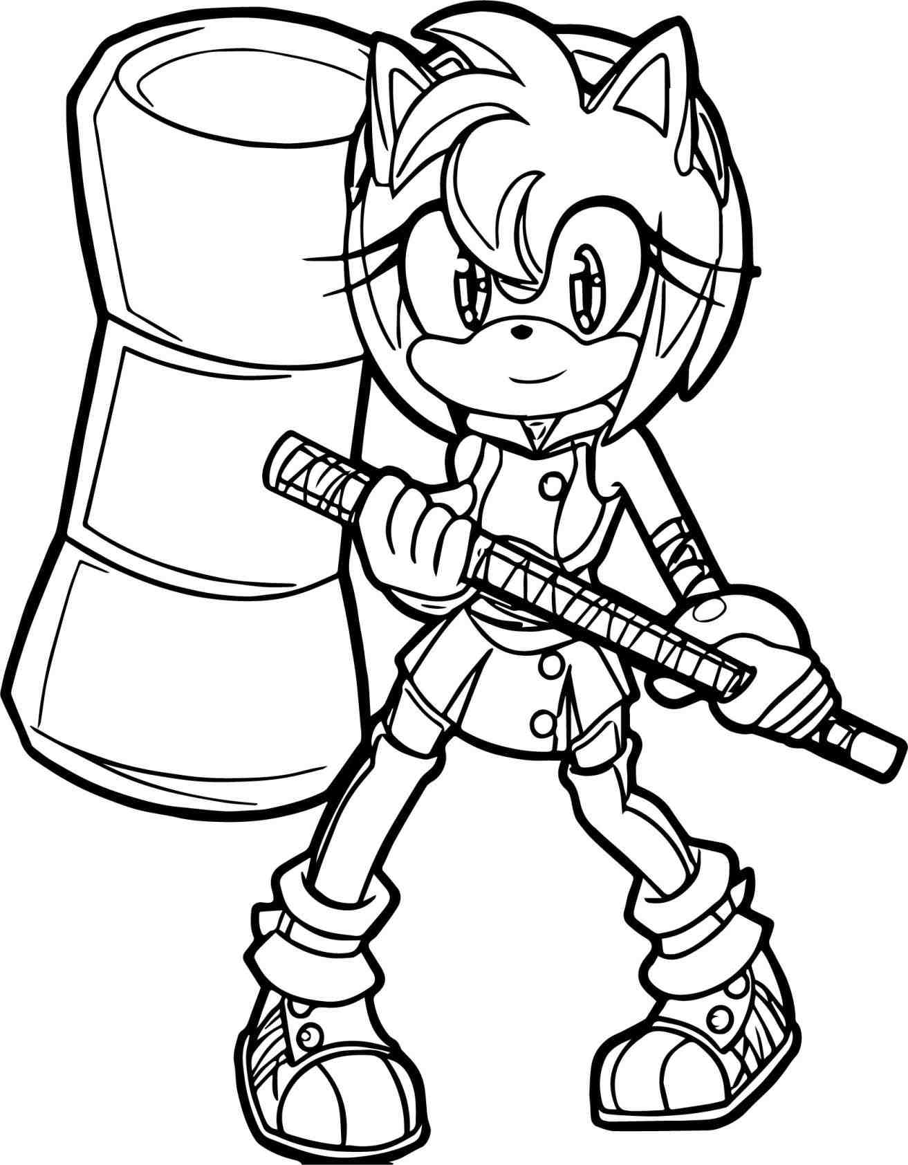 Amy Sonic Coloring Pages at GetDrawings | Free download