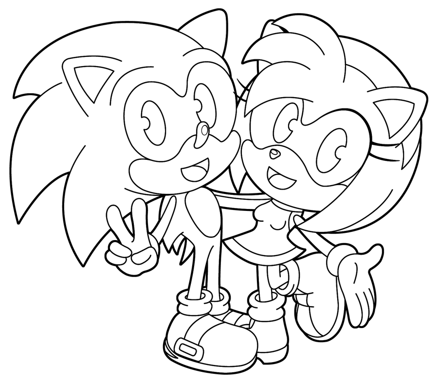 Amy Sonic Coloring Pages At Getdrawingscom Free For Personal Use
