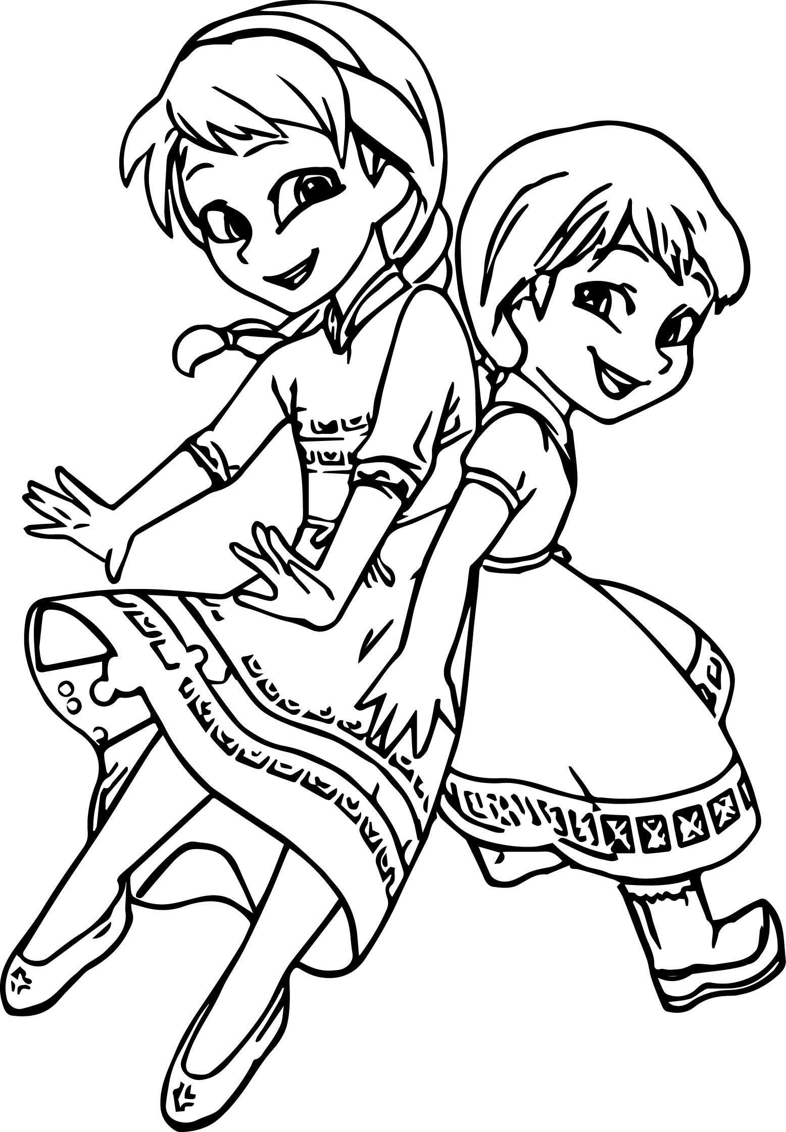1556x2241 Elsa Coloring Pages To Print, Search Results For Elsa And Anna