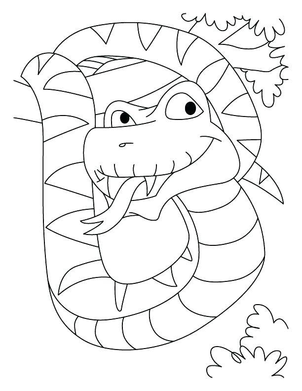 612x792 Green Anaconda Coloring Pages Printable Coloring Awesome Anaconda