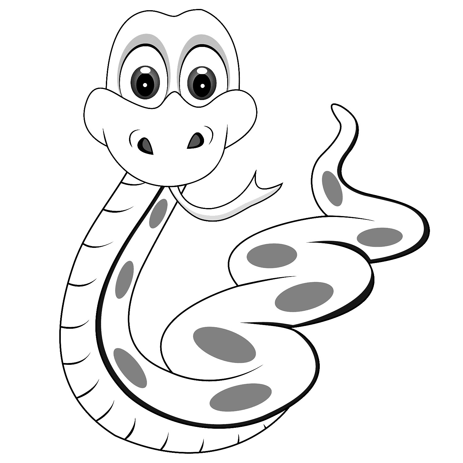 1500x1500 A Ordable Coloring Picture Of Snake Perfect Pictures Snakes