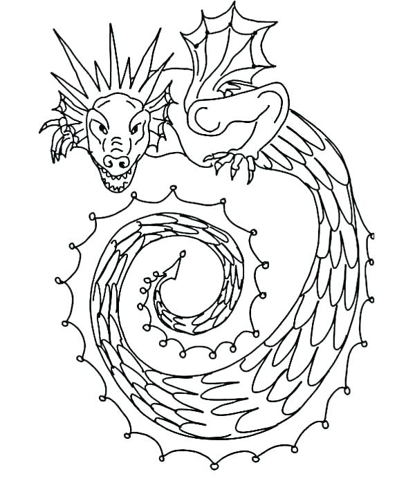 600x712 Coloring Pages Snakes Snake Coloring Page Dragon Snake Coloring
