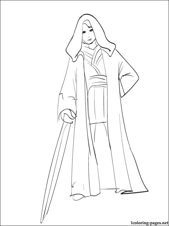 560x750 Star Wars Anakin Skywalker Coloring Page Coloring Pages