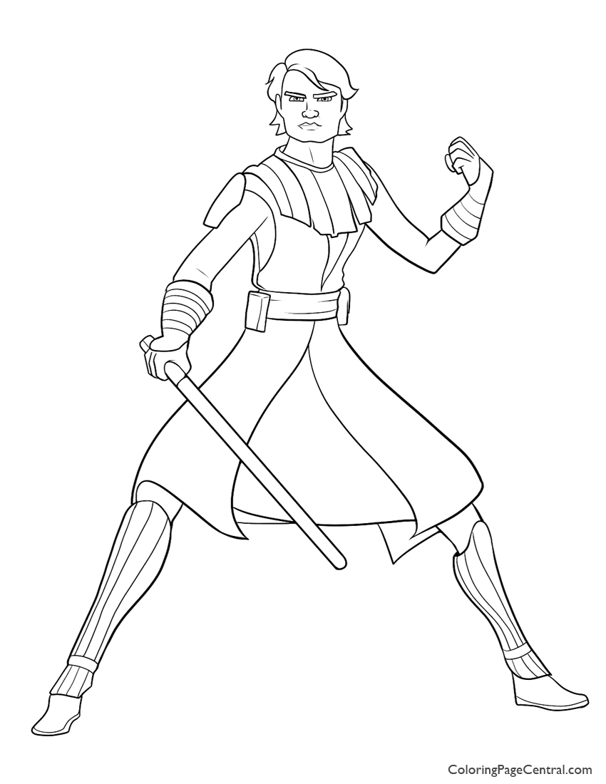 850x1100 Star Wars Anakin Skywalker Page Coloring Page Central