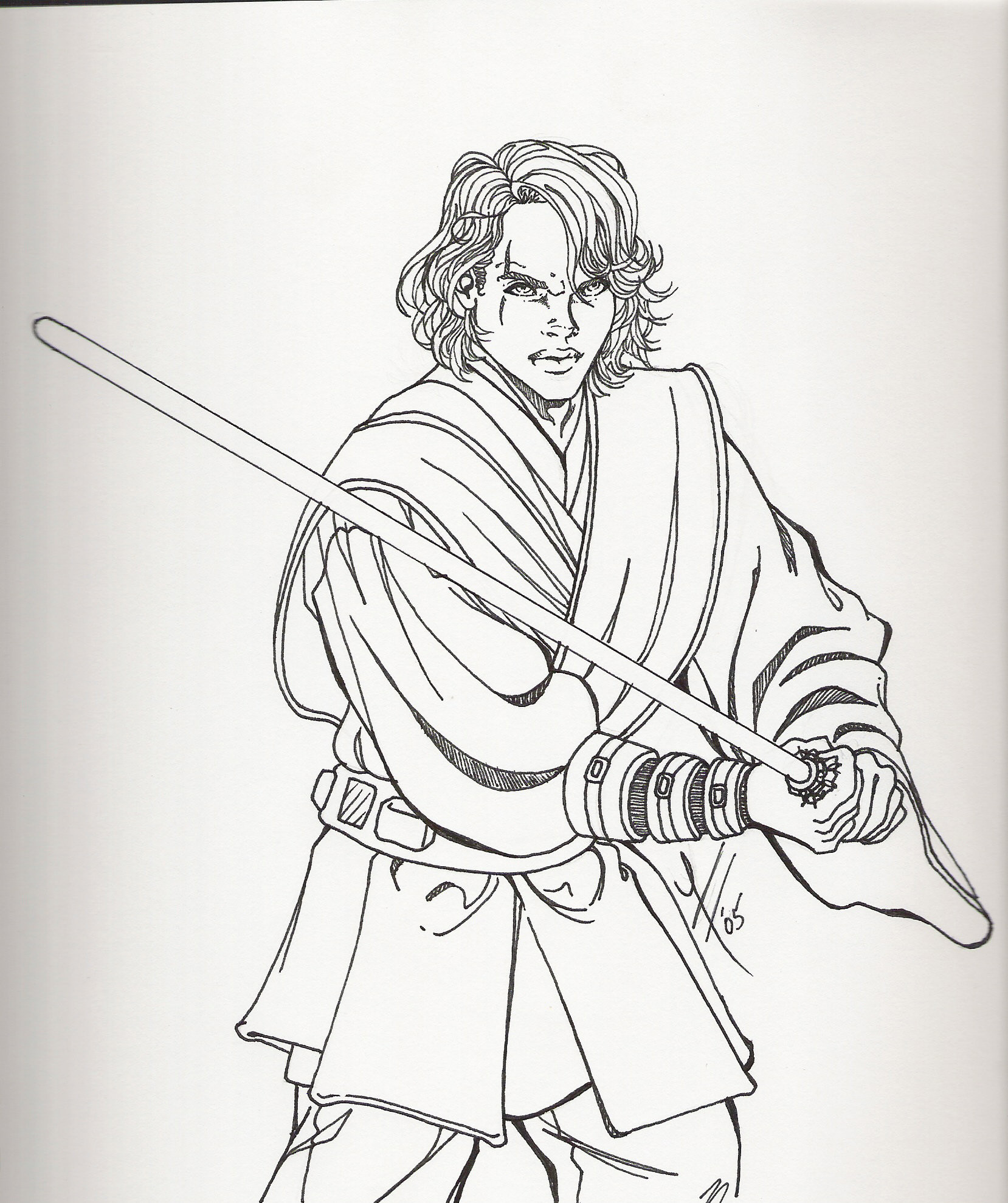 Anakin Coloring Pages At Getdrawings Free Download