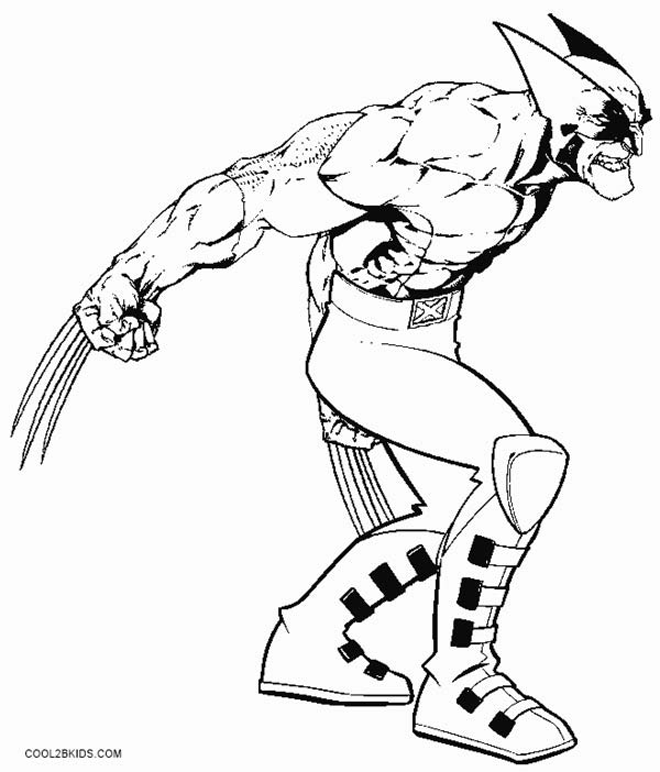600x702 Printable Wolverine Coloring Pages For Kids