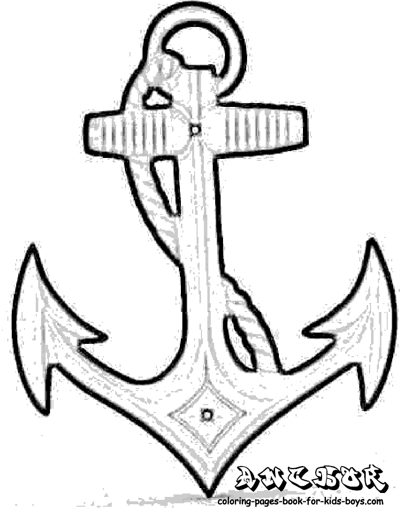 816x1056 Anchor Coloring Pages