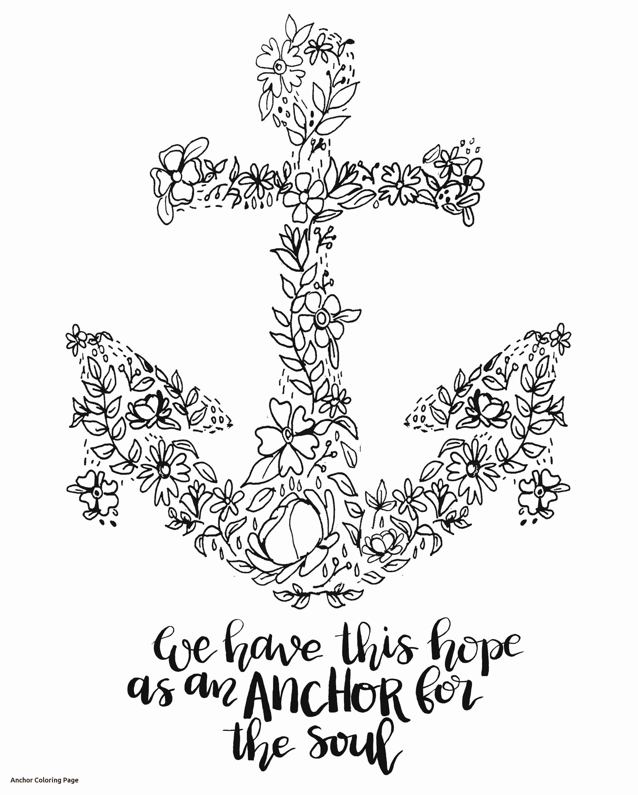 2438x3038 Anchor With Rope Coloring Page Free Printable Pages Also Olegratiy