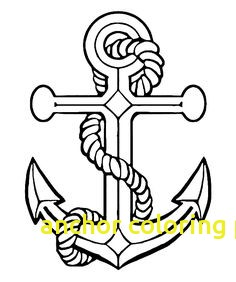 236x282 Anchor Coloring Page