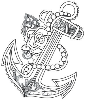 300x354 Cozy Anchor Coloring Page Pages