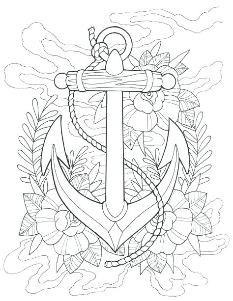 474x613 Cute Anchor Coloring Pages Page And For Adults Plus Ship Chevron