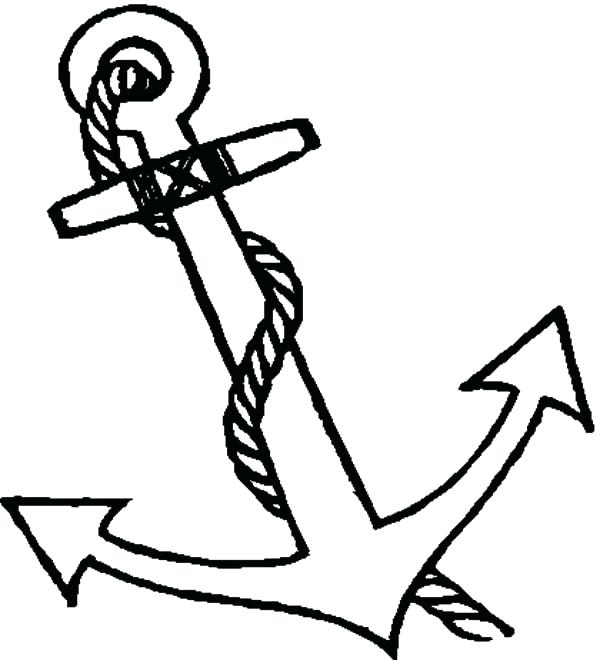 600x660 Elegant Anchor Coloring Page And Anchor Coloring Page Anchor