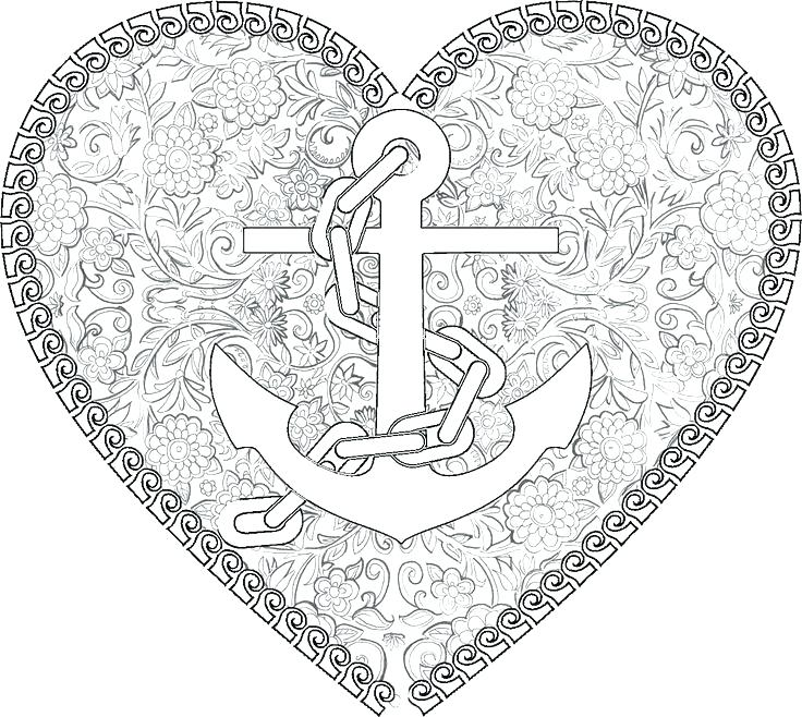 736x658 Nautical Coloring Pages Nautical Map Drawing With Anchors