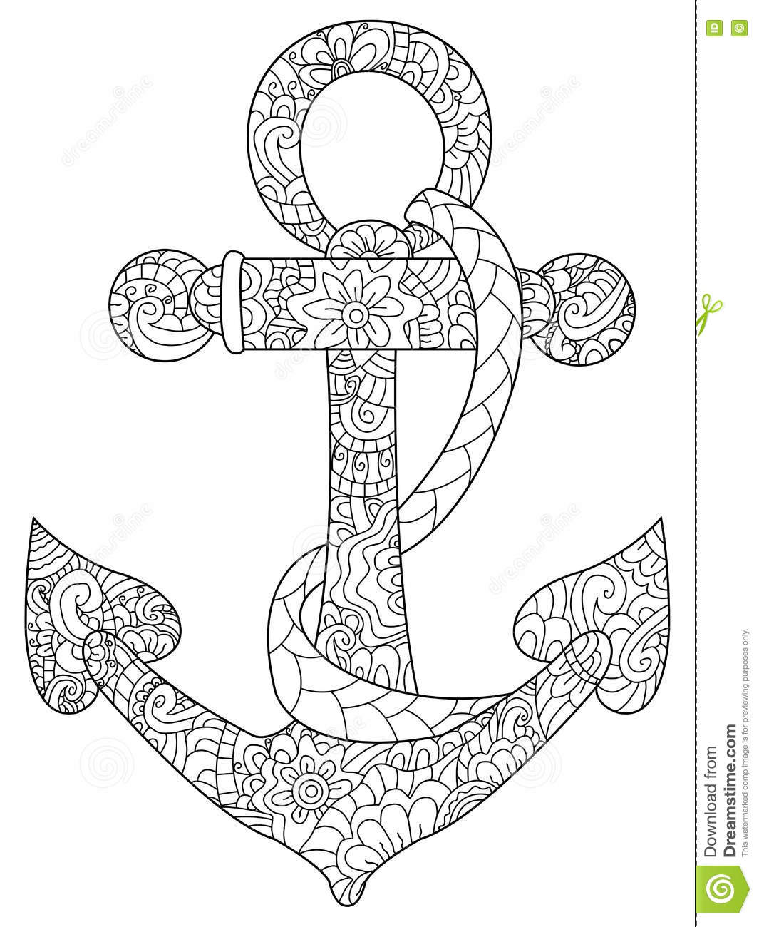 1065x1300 Powerful Coloring Pages Of Anchors Anchor Page