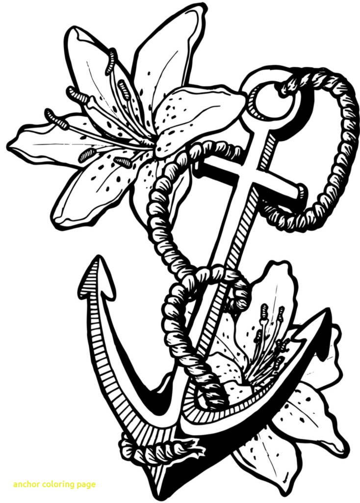 734x1024 Anchor Coloring Page