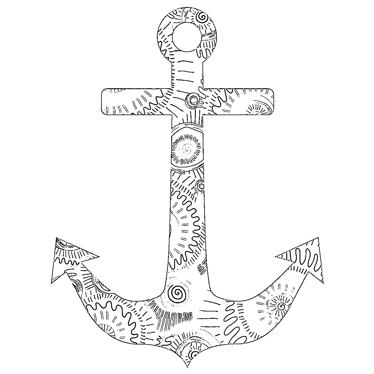 1280x1280 Anchor Coloring Pages Free