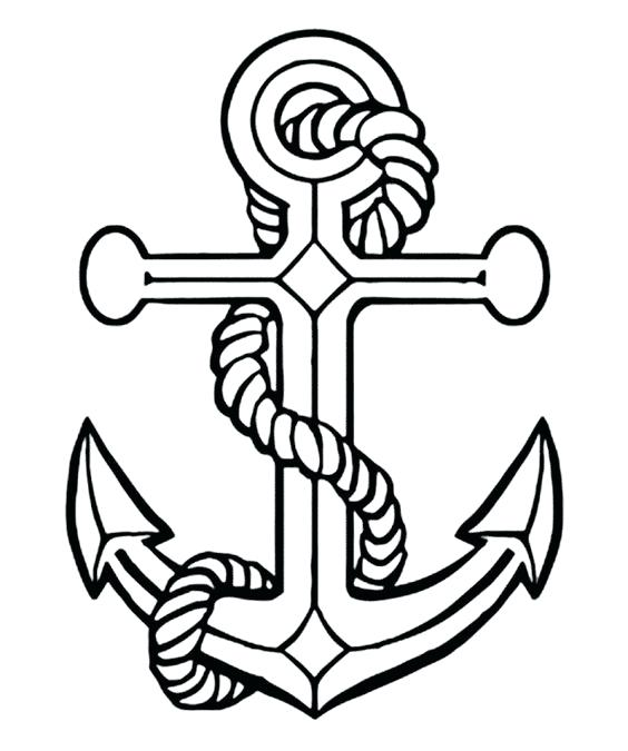564x675 Navy Anchor Coloring Page Free Pages On Art