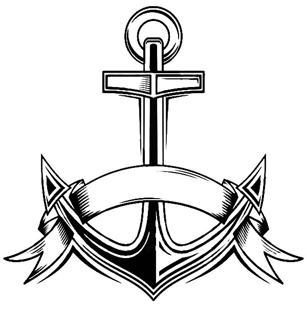 600x627 Navy Anchor Coloring Pages Coloring Pages Navy Anchor