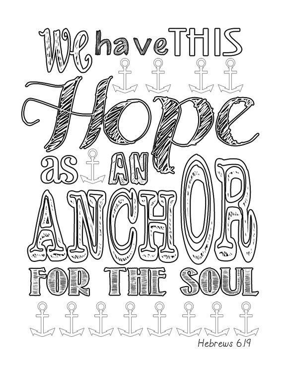 570x738 Printable Anchor Coloring Pages