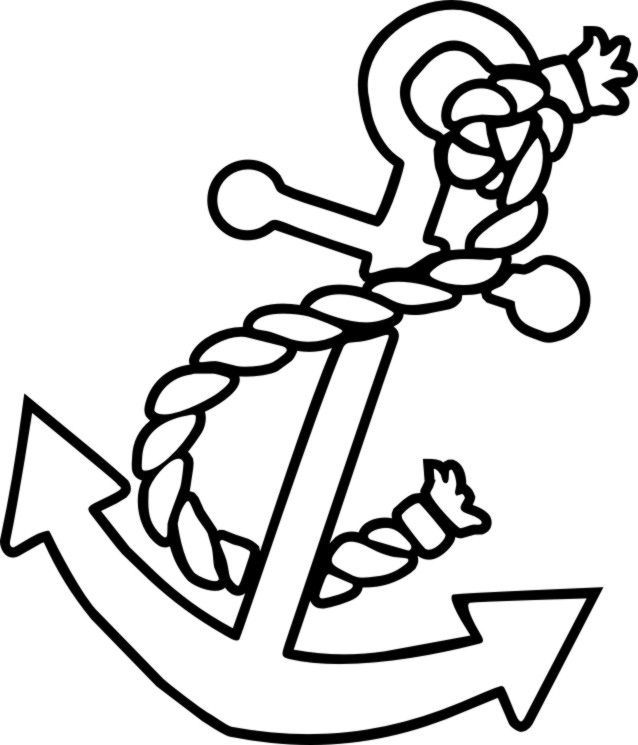 638x745 Free Color Pagesanchors Anchor Coloring Picture Kids