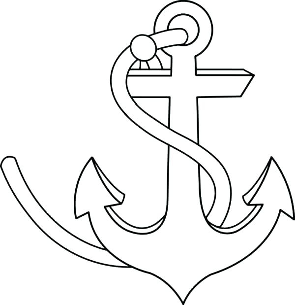 600x619 Anchor Coloring Page Printable Coloring Page