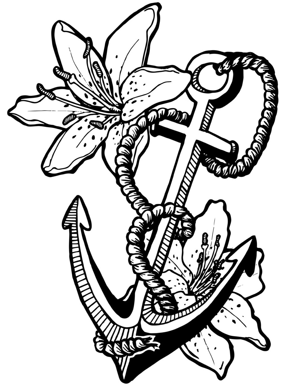 960x1280 Anchor Coloring Page With Rope Free Printable Pages Auto Market Me