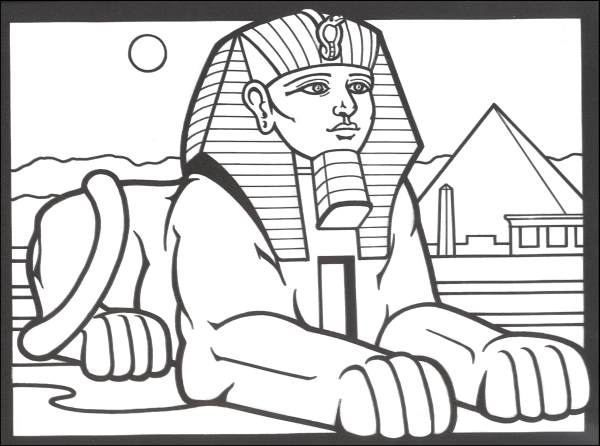 600x446 Egyptian Coloring Pages To Print