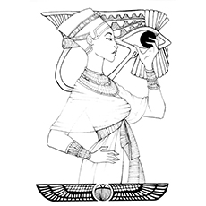 230x230 Top Ancient Egypt Coloring Pages For Toddlers