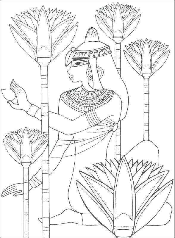 588x800 Ancient Egypt Coloring Sheets
