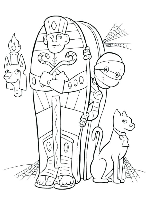 600x840 Egyptian Coloring Pages