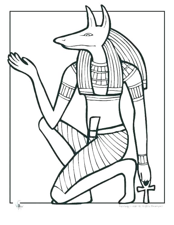 578x748 Ancient Egypt Coloring Pages