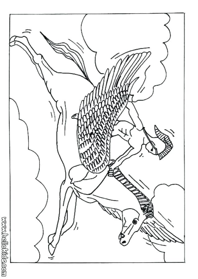 637x900 Greece Coloring Pages The Winged Horse Coloring Page Coloring Page