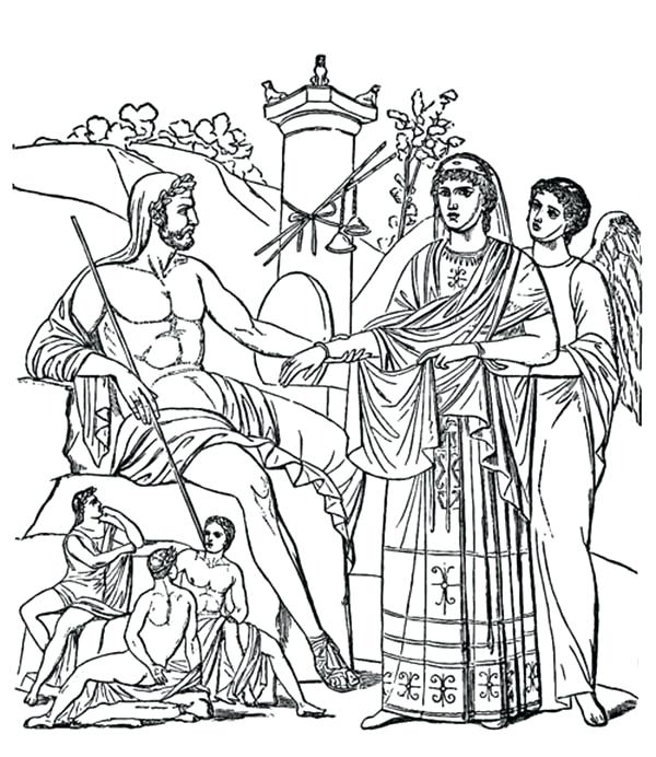 600x692 Greek Coloring Pages Coloring Page Free Download Ancient Greek