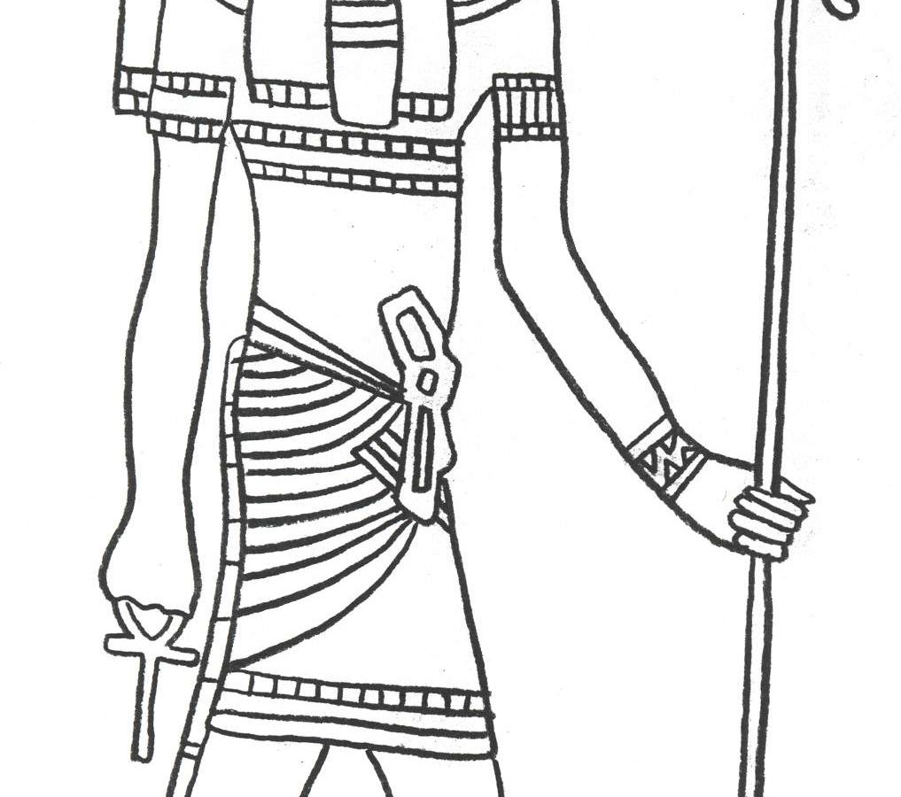 1017x900 Magnificent Coloring Egyptian Page Ancient Pages History
