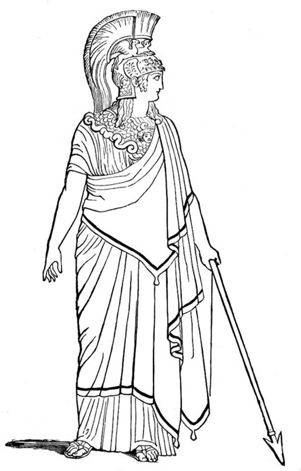 600x938 Ancient Rome Goddess Of War Coloring Page