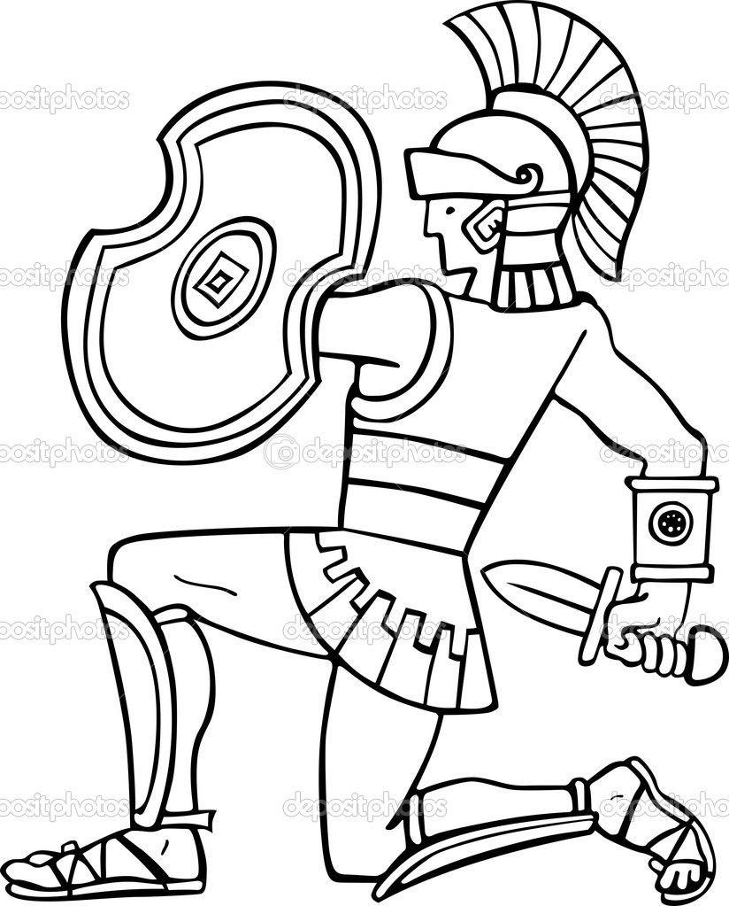 824x1023 Unsurpassed Roman Soldier Coloring Pages Wonde