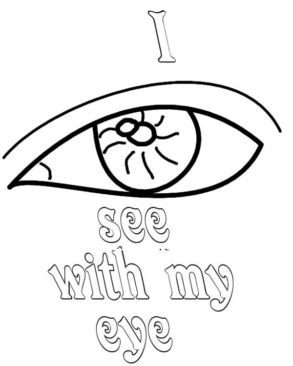 600x750 Coloring Pages I Can See With My Eye Of Eyes Best
