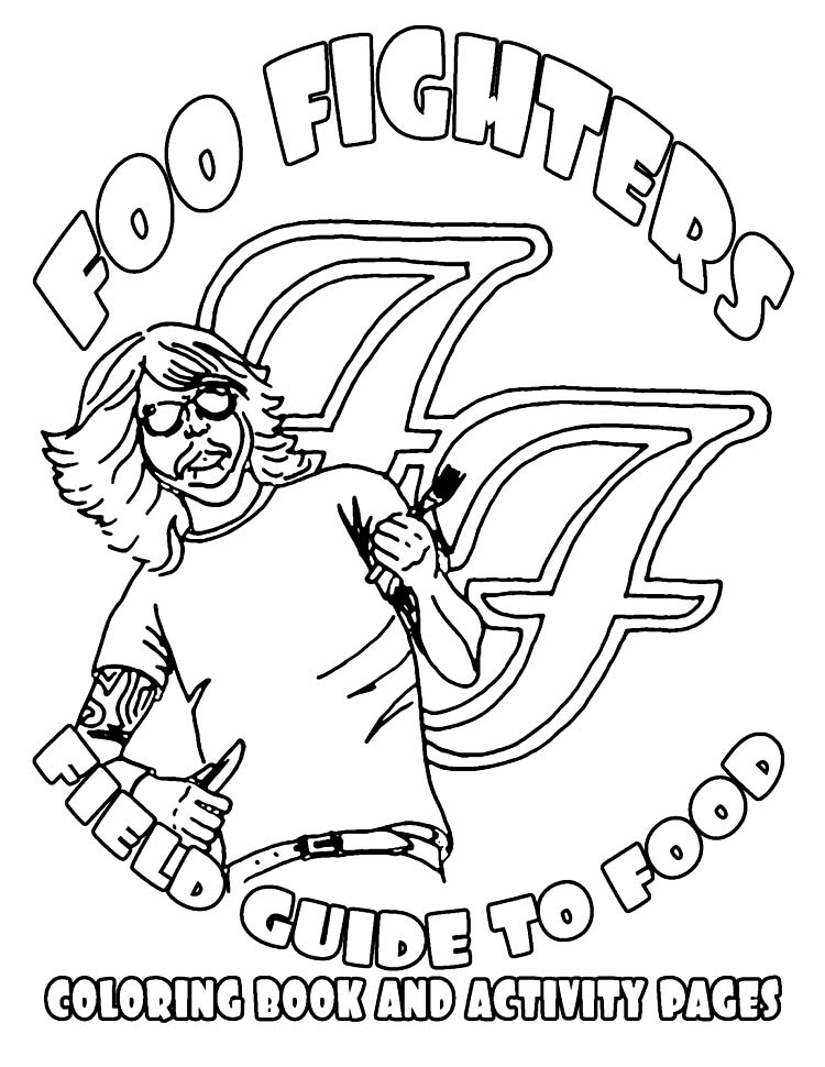 750x970 Foo Fighters New Rider Features Coloring Book Best Rider Ever