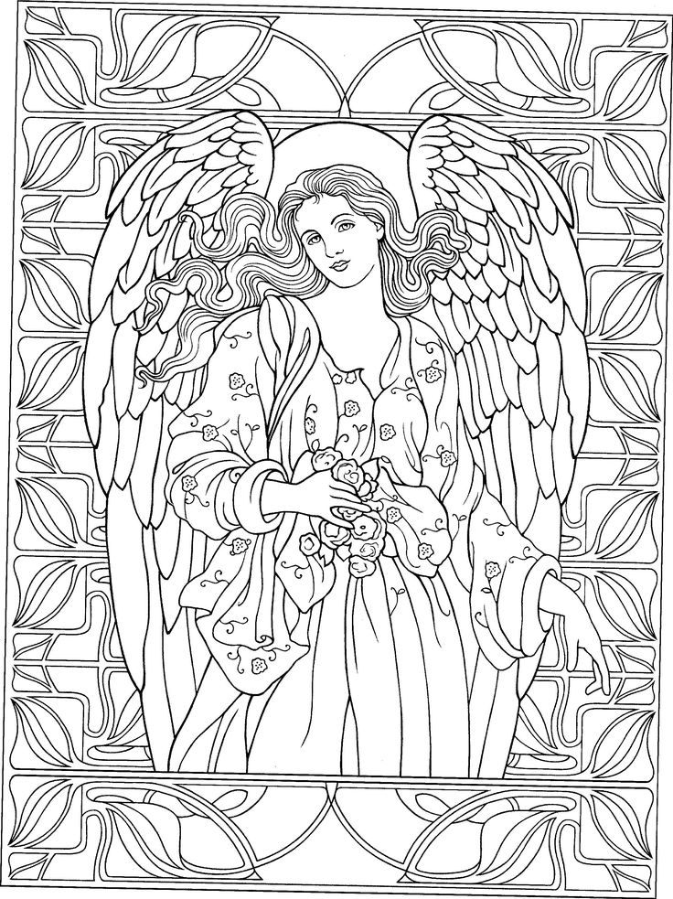 736x983 Angels Coloring Pages