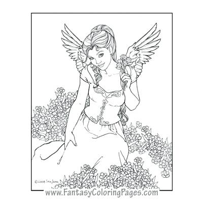 400x400 Angels Coloring Pages Anime Ange Fabulous Angel Coloring Pages
