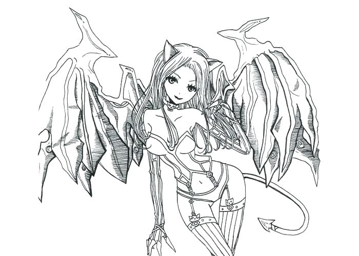 700x500 Dark Angel Coloring Pages