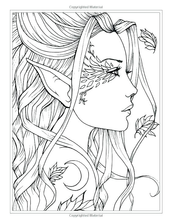 564x729 Angel Coloring Book