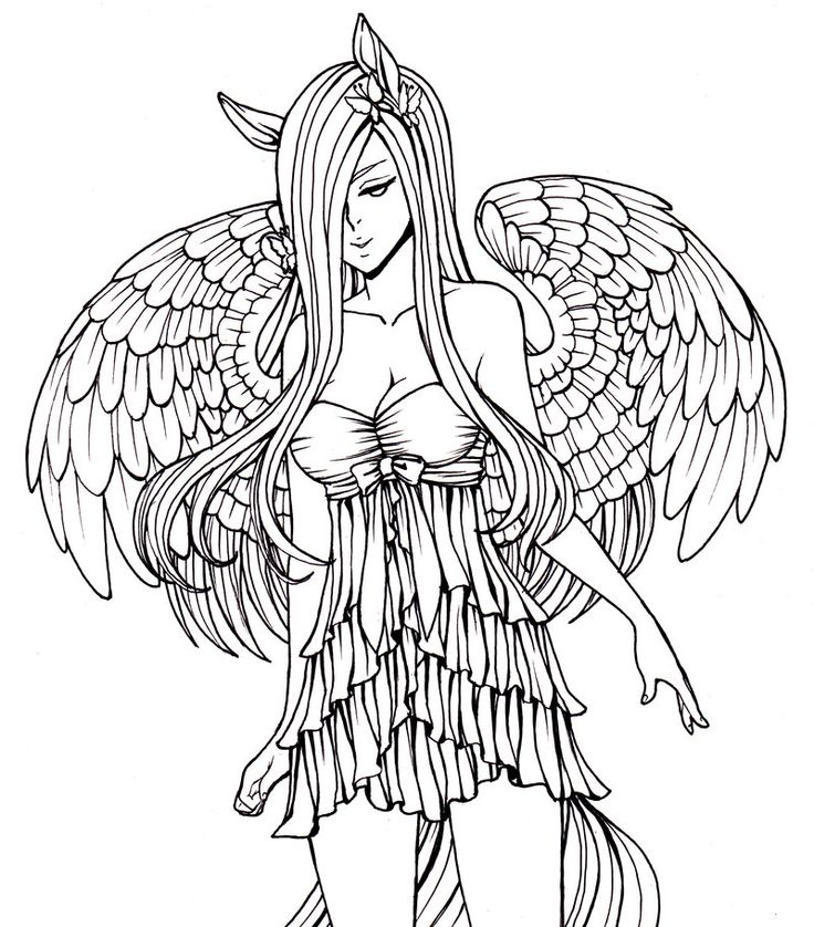 736x838 Angel Coloring Pages For Adults Best Faries Angels Coloring