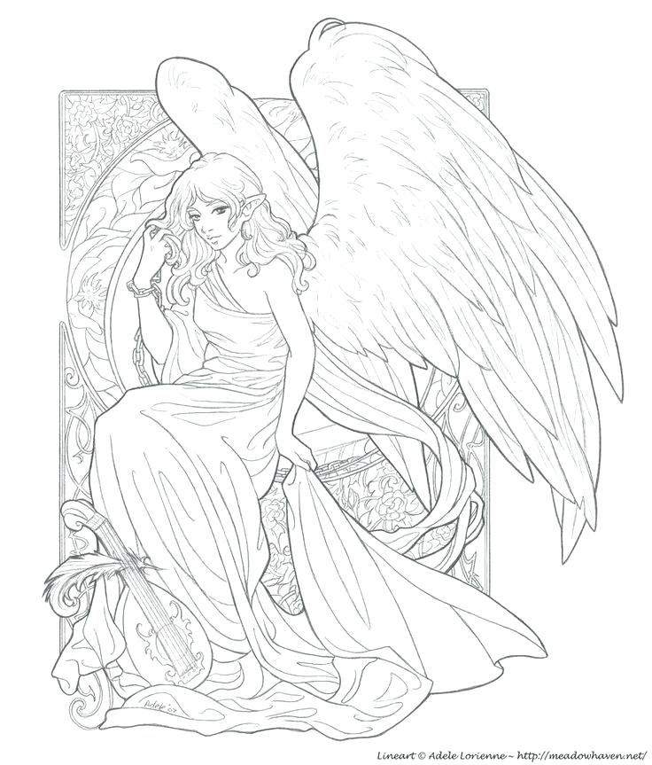 736x863 Angel Coloring Pages For Adults